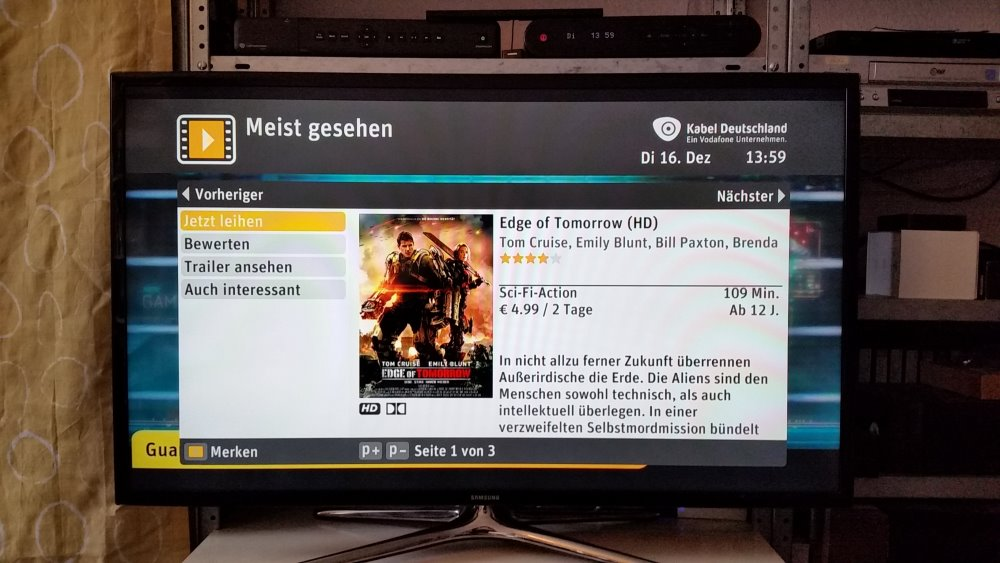 "Film ""Edge of Tomorrow"" bei SELECT VIDEO 