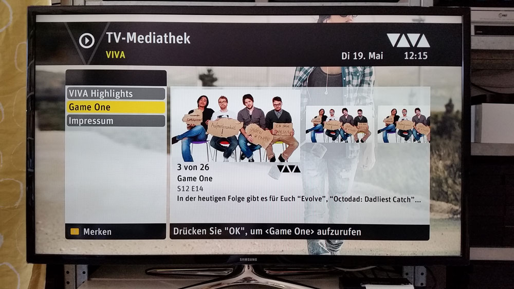 "Die Sendung ""Game One"" in der Mediathek von VIVA bei SELECT VIDEO 