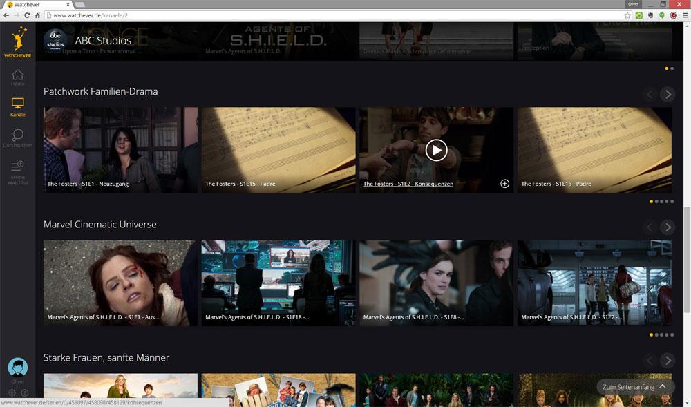 Die Gruppierung erinnert stark an Netflix | Screenshot: Redaktion
