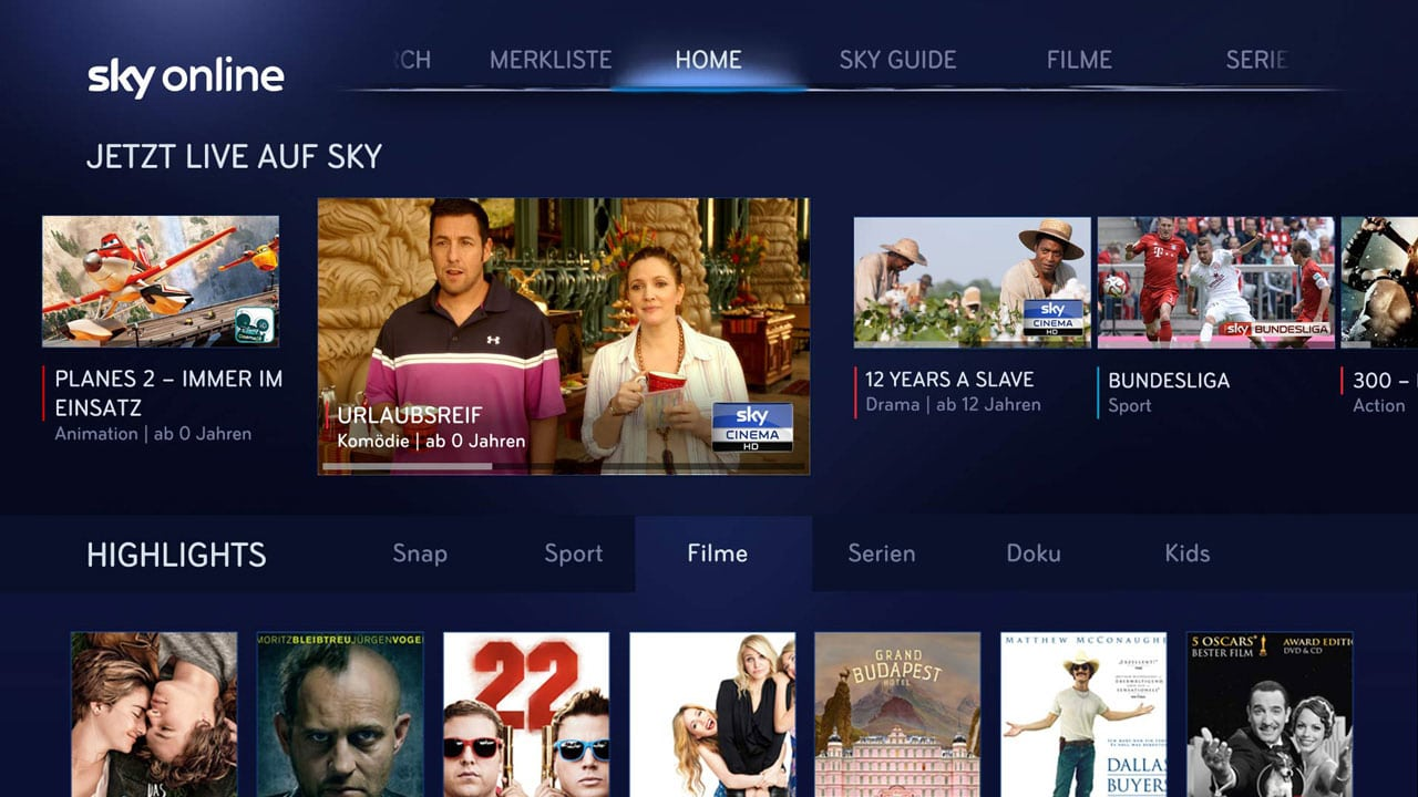 Sky Online auf LG Smart TVs | Grafik: Sky (via E-Mail)