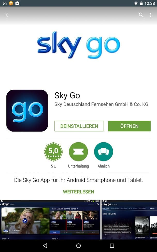 Die neue App bei Google Play | Screenshot: Redaktion