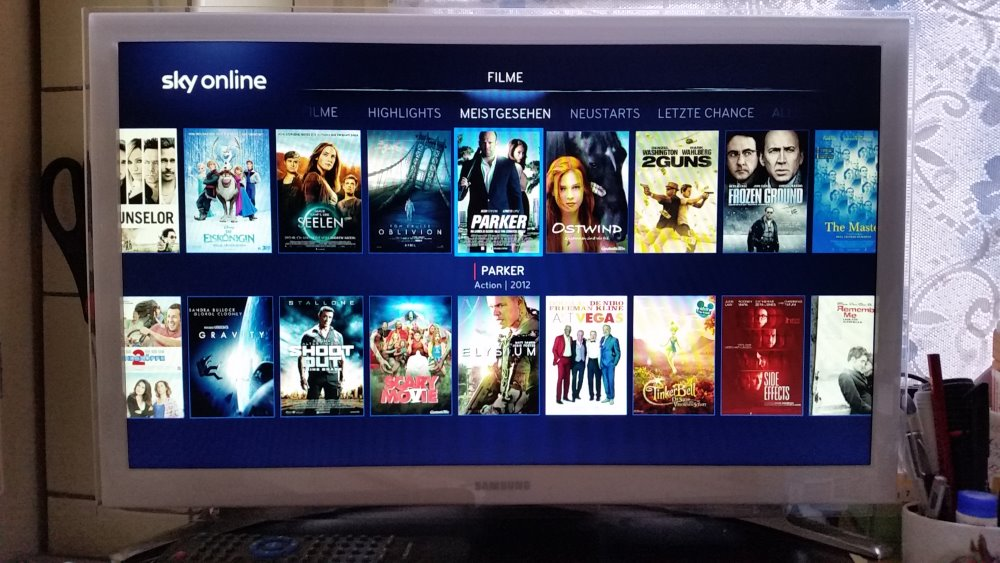 Übersicht zu Filmen bei Sky Online | Foto: Redaktion
