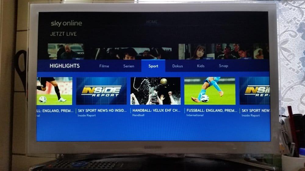 Sport bei Sky Online | Foto: Redaktion