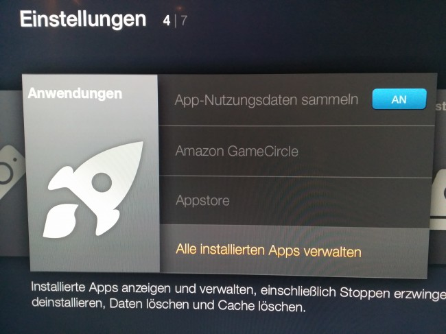 Alle installierten Apps: Fire TV
