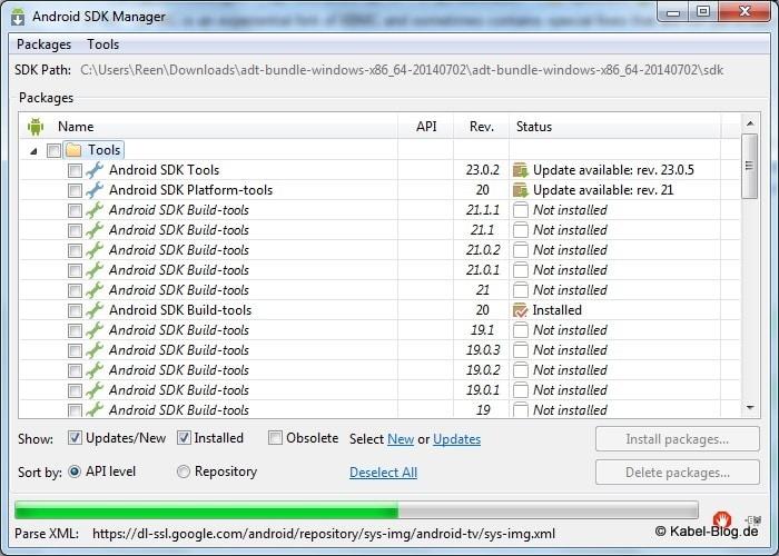 amazonfiretv-sdk-manager-installieren