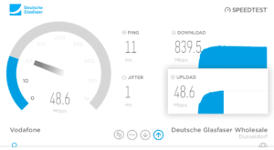 Speedtest bei Deutsche Glasfaser