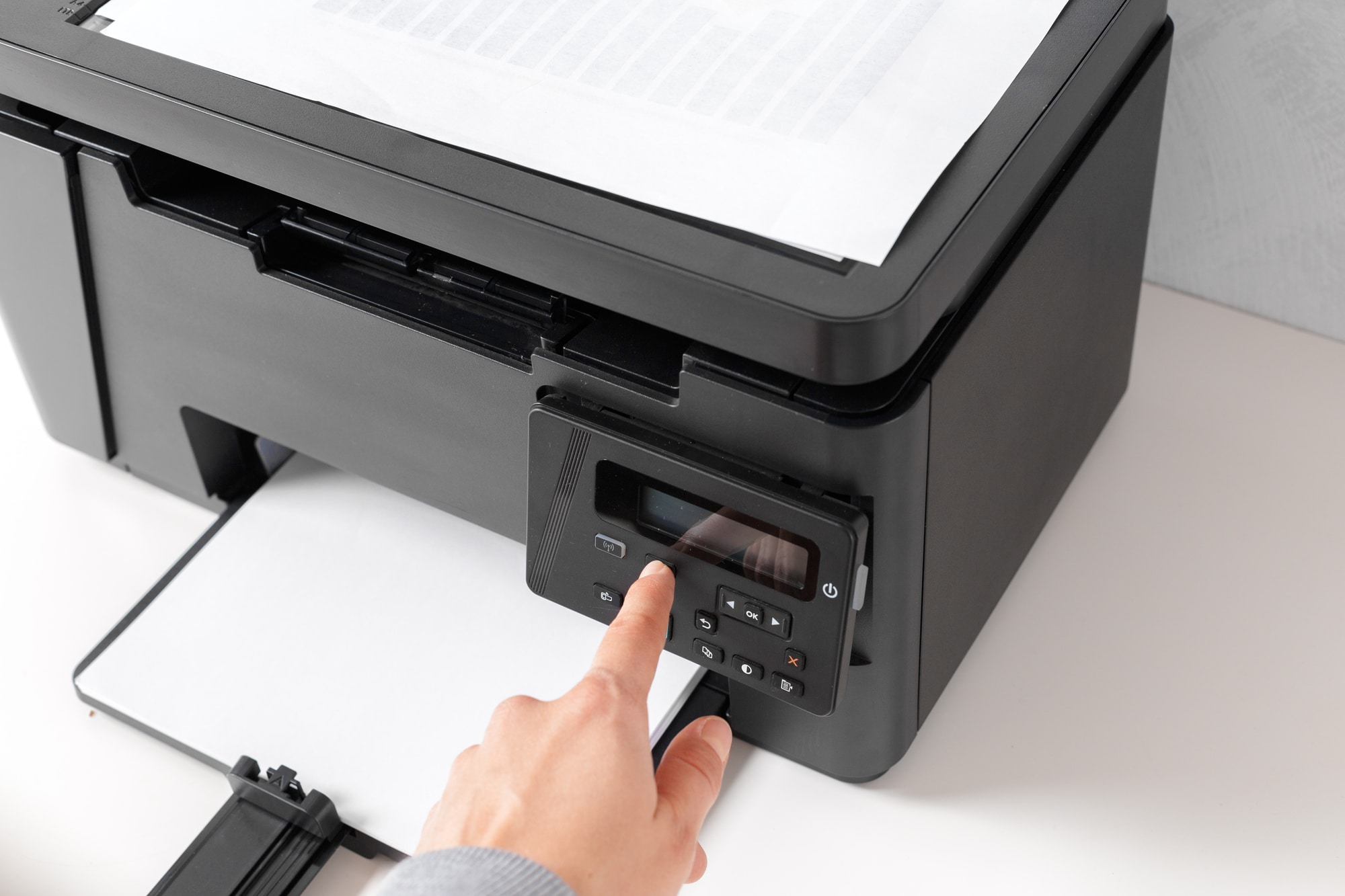 Printer on the table