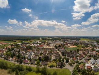 Blick auf Dorf bei Erlangen