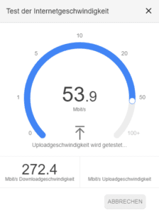 Speedtest bei Google