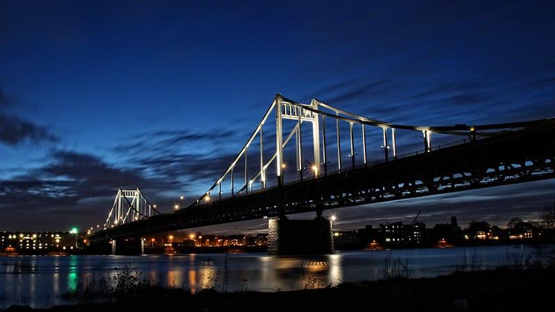 Rheinbrücke in Krefeld