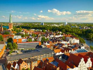 Panorama von Lübeck