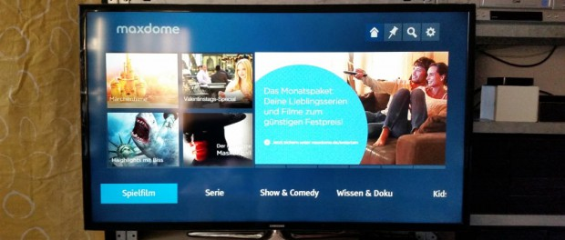 maxdome-App auf Entertain-Receiver | Foto: Redaktion