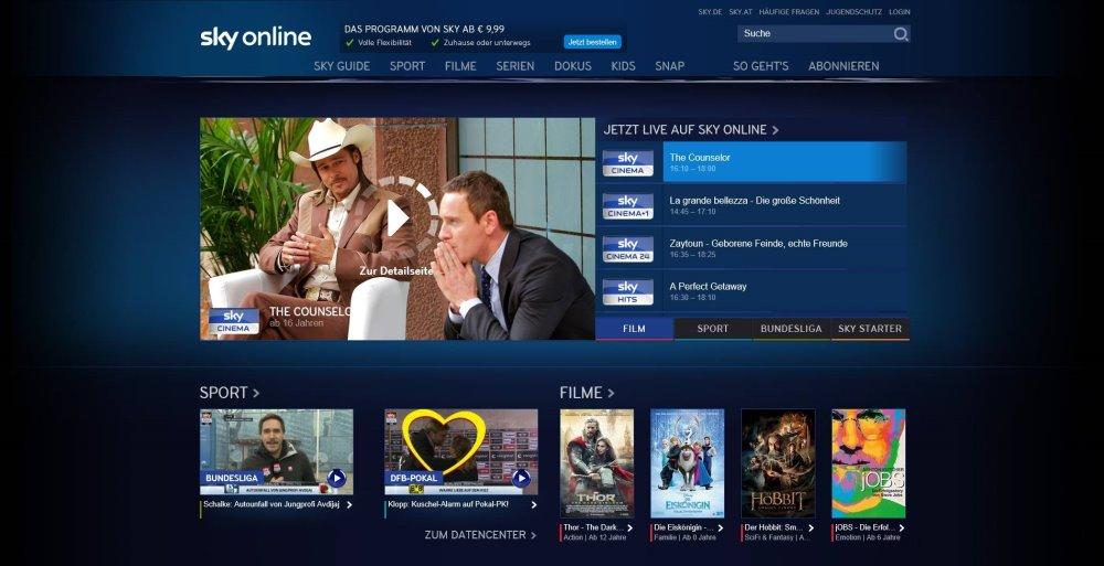Sky Online – der neue Weg zu Sky: Der einfache und flexible Zugang zu vielen der besten und exklusivsten Inhalte von Sky