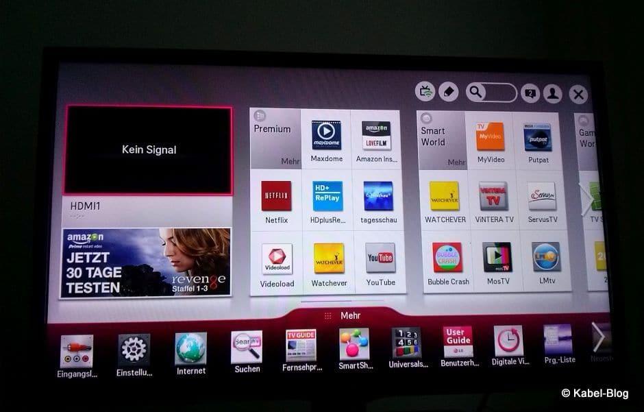 Smart-TV Menue