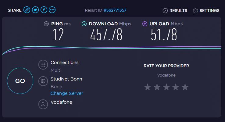speedtest.net-ergebnis