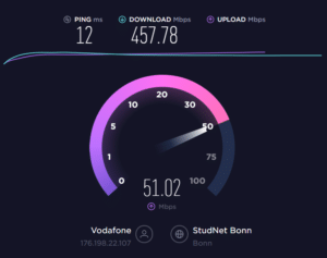 Speedtest.net - Uploadmessung