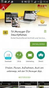 TV Manager für Smartphones